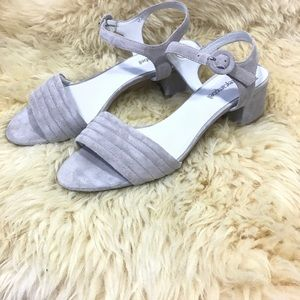 Jeffrey Campbell Faye suede black heel sandal
